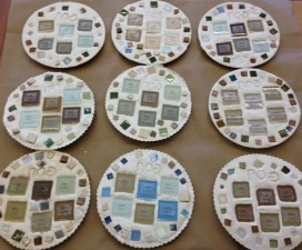 Seder Plates in Room Gimmel