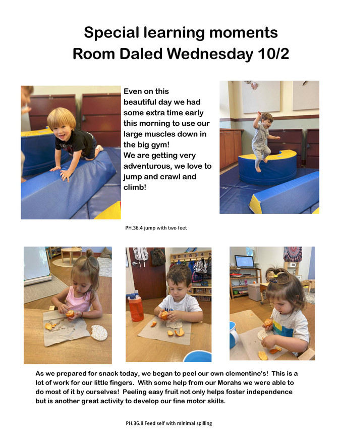 Strengthening Gross & Fine Motor Skills in Room Daled