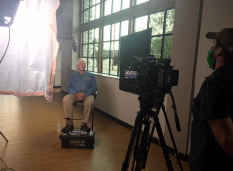 Filming the First Interview of the Project