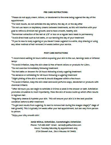 Pre and Post Sugar Home Care Tips P2.JPG