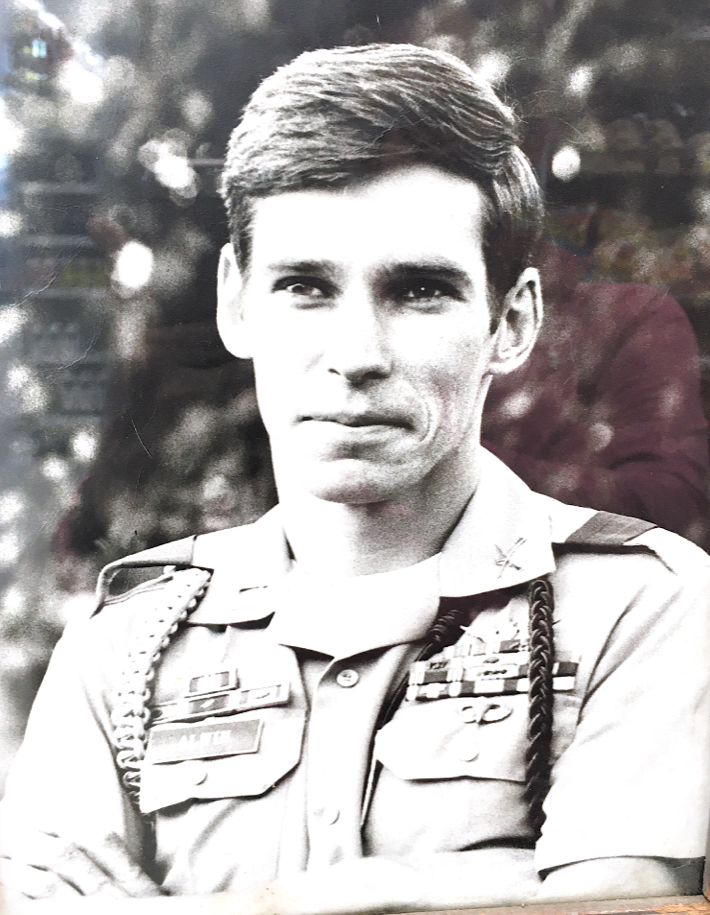 Scott Alwin in military dress with medals
