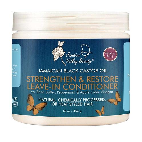Jamaica Valley Jamaican Black Castor oil Strength & Restore LEAVE IN CONDITIONER