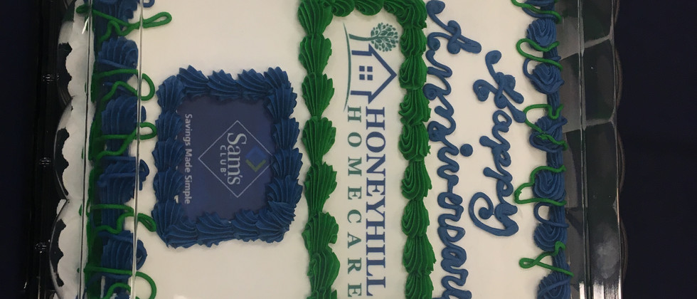 Our cake provided by Sam's Club