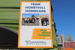 HoneyHill HomeCare Team Sign
