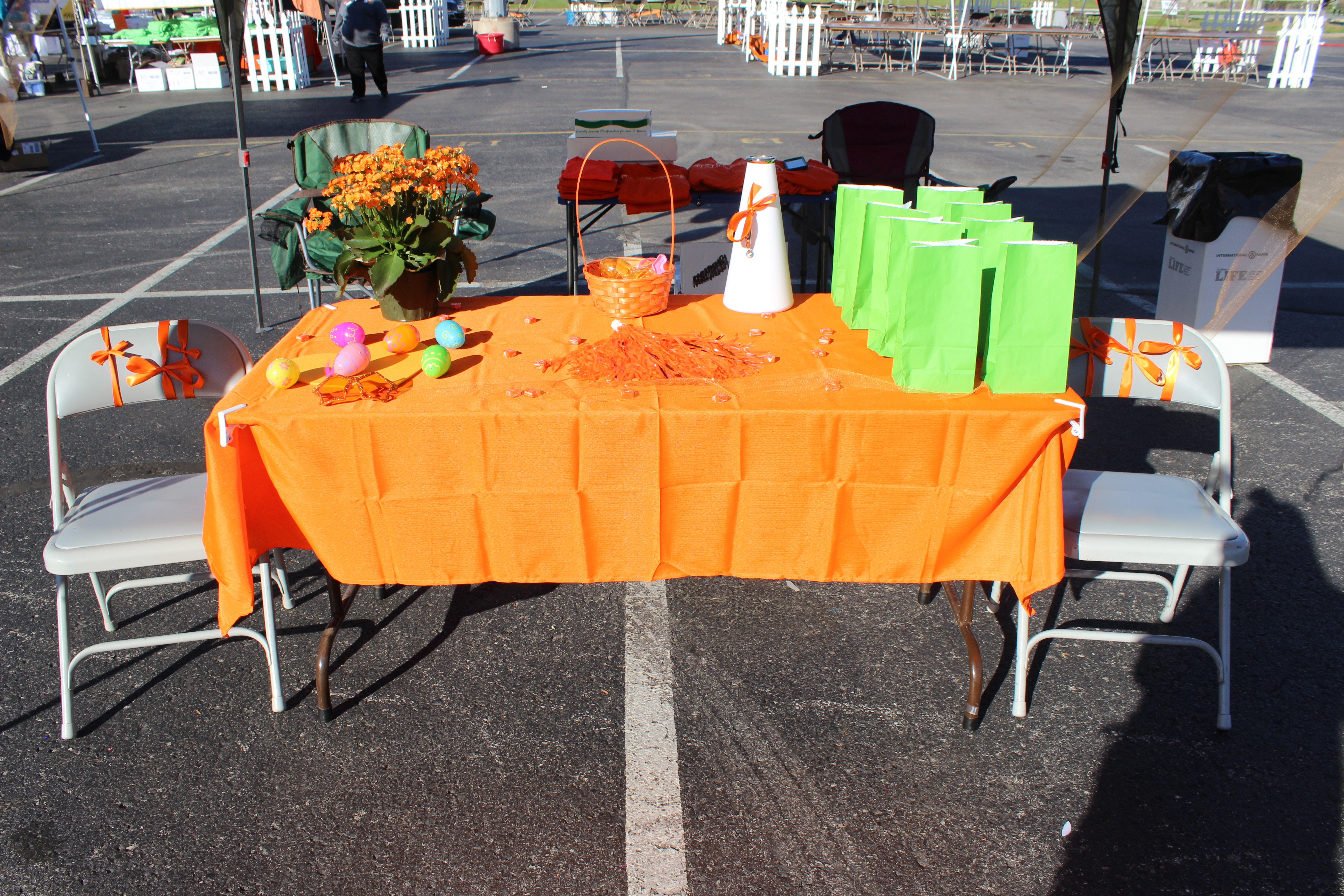Our orange table for Walk MS 2017