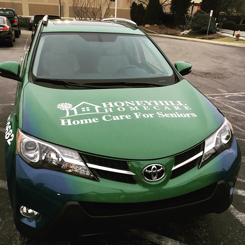 Hood of HoneyHill's Car