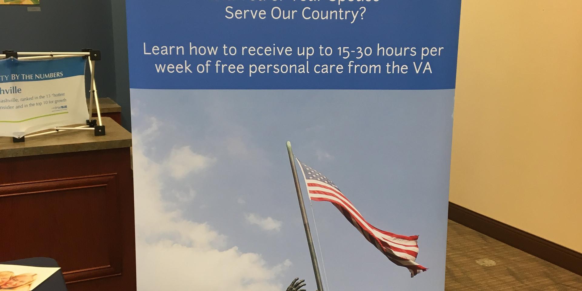Our Veterans Program banner!