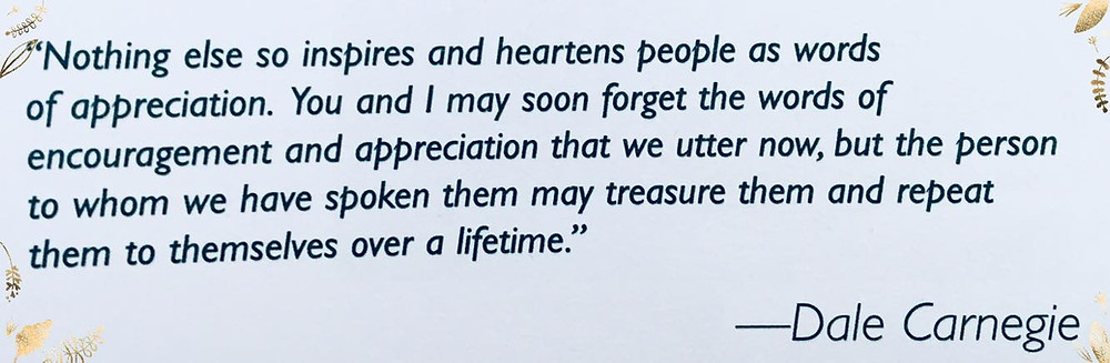 Dale Carnegie Quote-HoneyHill HomeCare