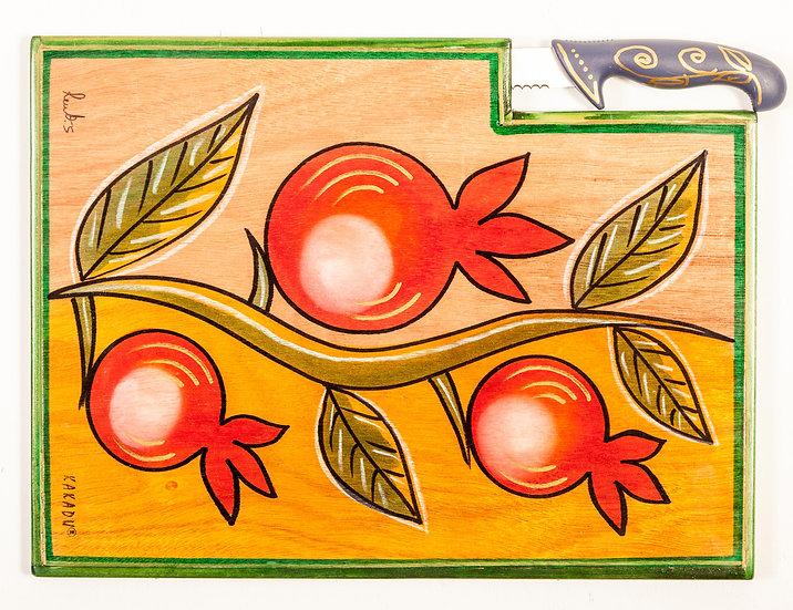 Woden cutting board Climbing Pomegranate