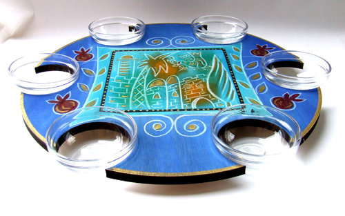 Pesach Seder Plate . Lazy Susan Golden City