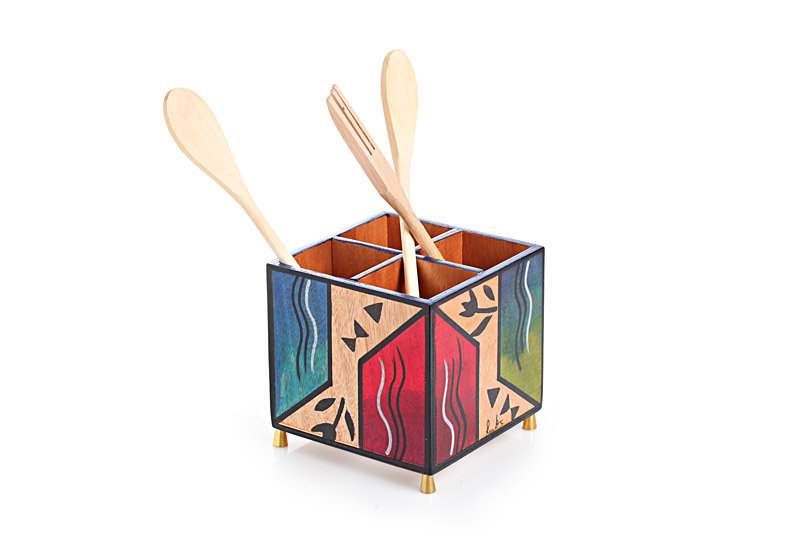 Cutlery holder Ikat