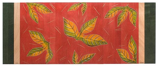 Long Carpet- Red Leaves