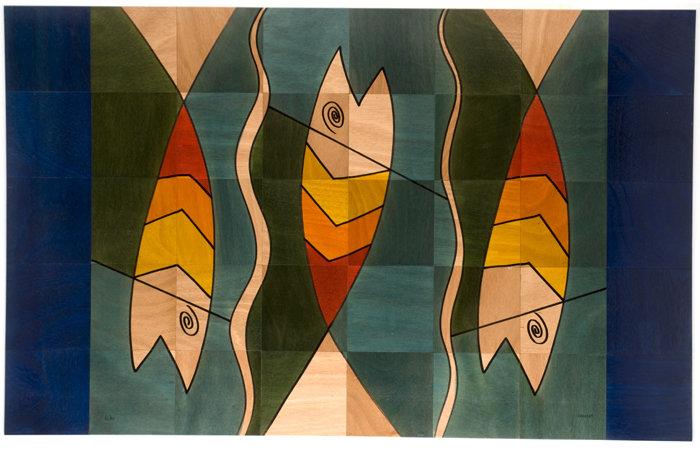 Large Wooden Carpet- Yin Shlin