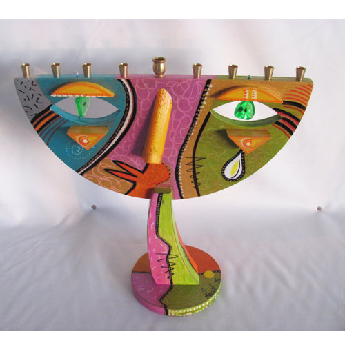 "Menorah ""Tear Drop"""