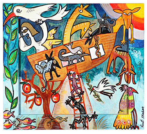 """Wall hanging Scenes from the Bible - """"Noah's Ark"""""""