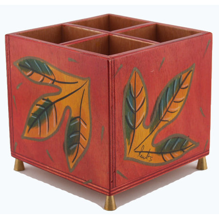 Cutlery holder Red Leaves