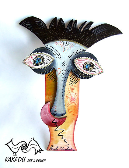 """Wooden Painted Masks - """"Eyes"""""""