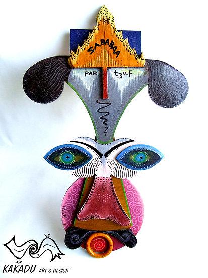 """Wooden Painted Masks - """"Sababa"""""""
