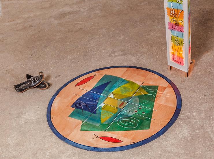 Round floor mat Okyanus