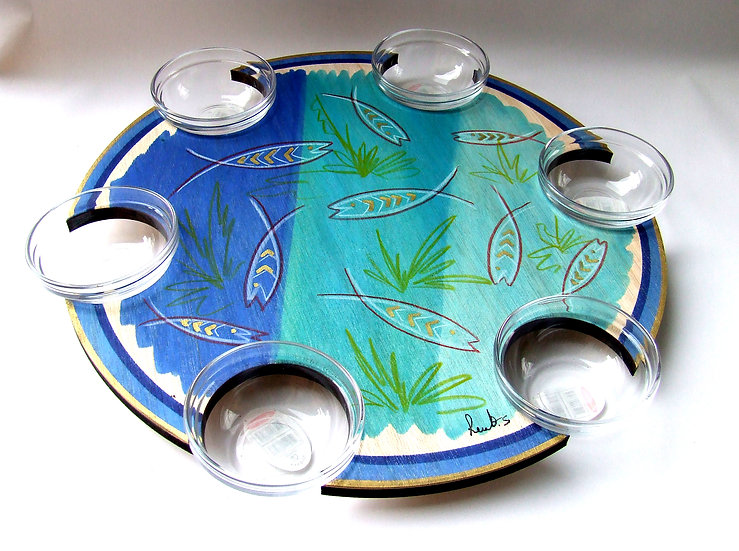Pesach Seder Plate . Lazy Susan Baraca