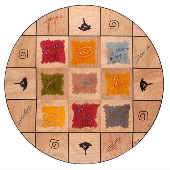 Round floor mat Artist Plate