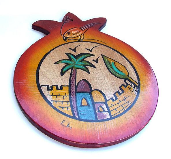 Round cutting board Jerusalem
