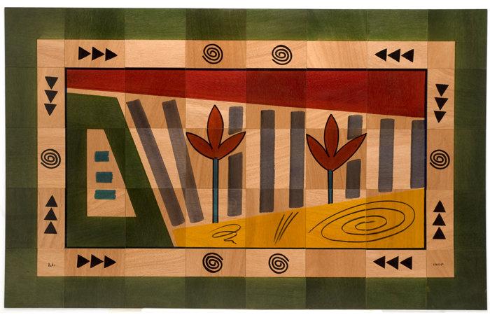 Large Wooden Carpet- Nof