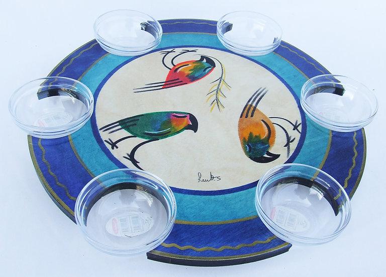 Pesach Seder Plate . Lazy Susan Fifot