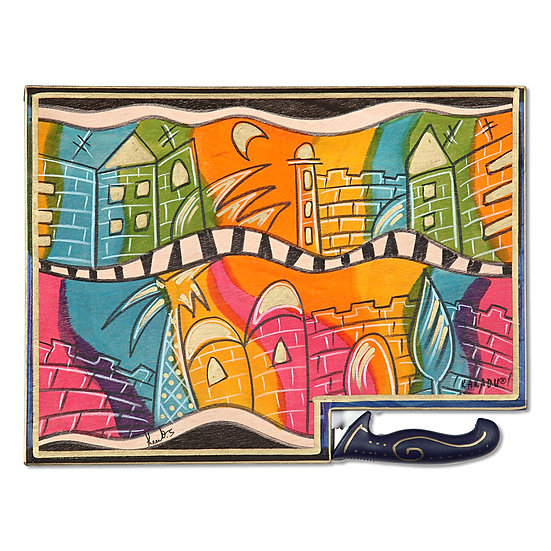 Wooden cutting board- Oh Jerusalem!