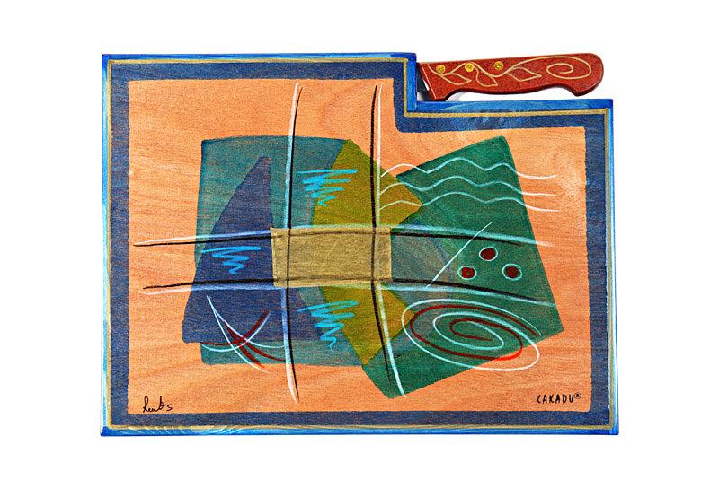 Wooden cutting board- Okyanus