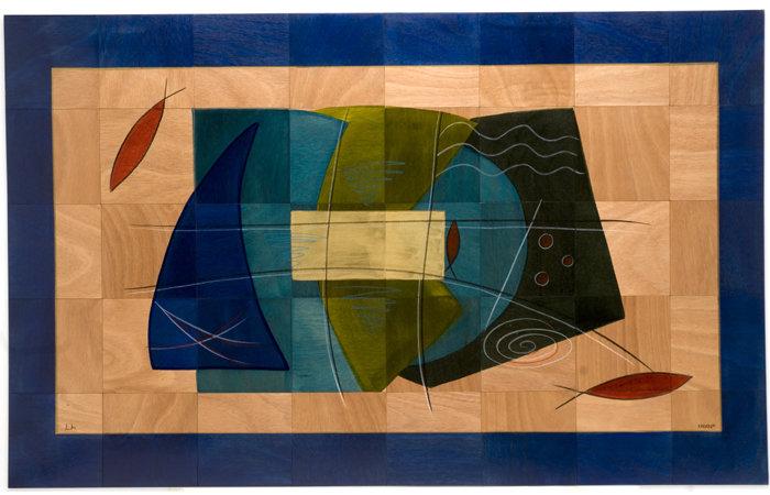 Large Wooden Carpet- Okyanus