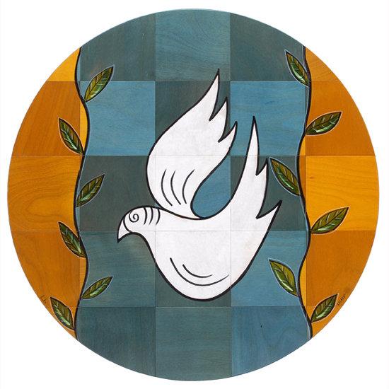 Round floor mat Dove