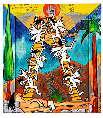"""Wall hanging Scenes from the Bible - """"Jacob's Ladder"""""""