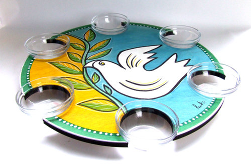 Pesach Seder Plate . Lazy Susan Yona