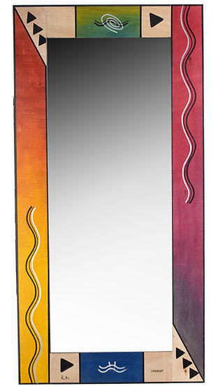 Large Mirror- Ikat