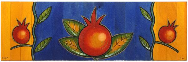 Long table runner- Pomegranate