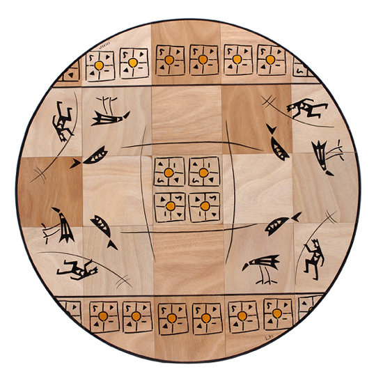 Round floor mat Nature
