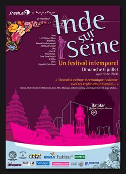 """affiche Festival """"inde sur seine"""""""
