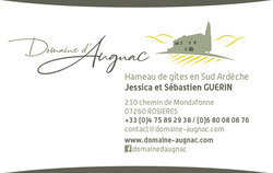 Carte de visite verso Domaine Augnac