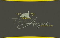 Carte de visite recto Domaine Augnac
