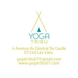 Carte visite verso Yoga Tribu