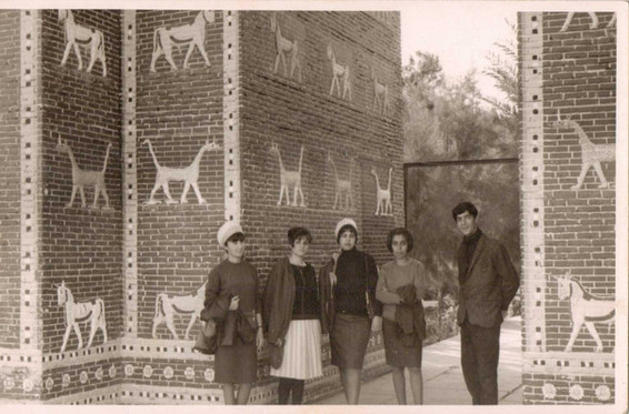 My dad Muafaq Wafi on a uni trip to the Babylon site.  Babylon, 1966
