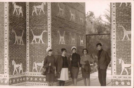 My dad Muafaq Wafi on a uni trip to the Babylon site.  Babylon, 1966