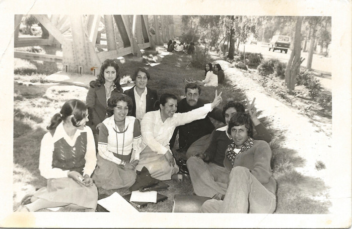 This photo is from a trip my mom Kifah Kanber Wafi went on during college years to Buhayra (lake) Al Habbaniyah. It was first year Technical Institute For Administration, Baghdad, Iraq.  Buhayra Al Habbaniyah, 1978