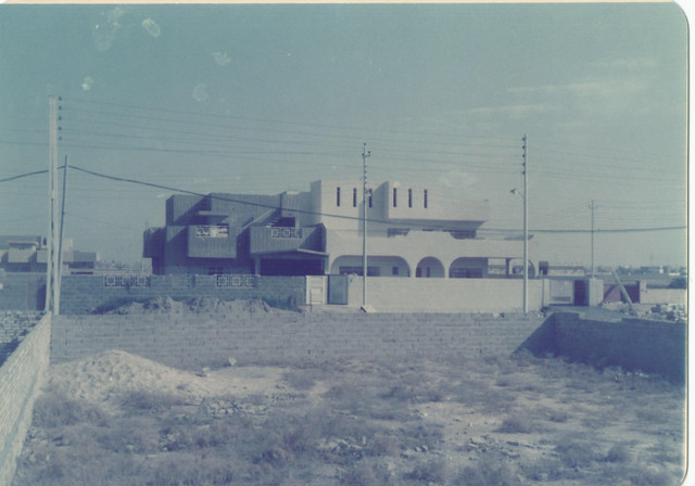 The construction of my grandparents house in AlGhazaliya. This image fills me with nostalgia as firstly I did not remember the details of my grandparents house design (external); where the main thing I remember is everything on the inside, from the last time I was there in 2001 for a month, seeing my grandfather for the last time, Baghdad for the last time, this house for the last time. Not to mention that before 2001 the last time I was in Baghdad I was 6 years old.   Baghdad, 1985