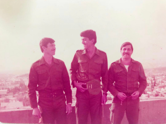 These pictures are of my father and some of the heroes who are standing against enemy lines in northern Iraq, where they represent the best Iraqi heroes in confronting the enemies.  Sulaymaniyah, 1980