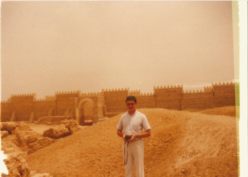 My father and his friend Dr. Yaqoub AbdulMasih who is currently in Dublin, on a field trip to the historic and legendry Babylonian city. Babylon is a very important city and legacy of Iraq and the world, whether historically or even religiously.   Babylon, 1984