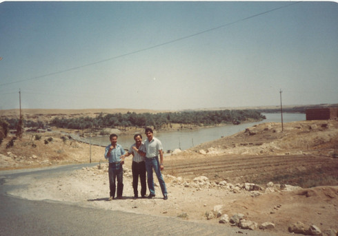 My father went on a road trip with his friends yet again to the Anah area and then specifically to the land facing Aloos Island which is in the Euphrates river.    Very interesting for me as it represents my heritage, family and ancestors history, they left a great memory behind them and their eagerness to be educated, be teachers, scientists, philosophers, etc. just makes me proud to have a family name that stands for a great legacy (in my opinion).    Aloos island, 1989