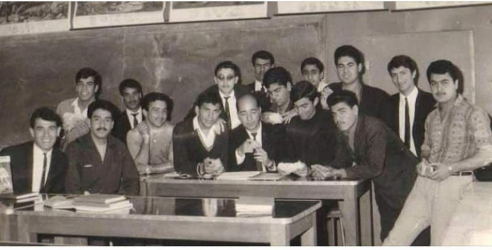 It's a photo of my late father with his classmates. Geology Department, Faculty of Science, University of Baghdad  Baghdad, 1970