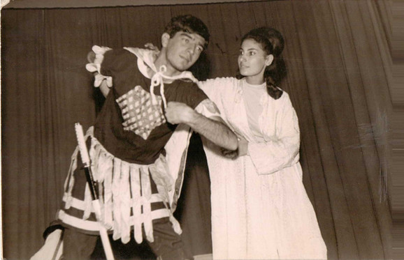Photo is of a comedy written by my dad Muafaq Wafi. He played at his uni theatre.  Adhamiya, Baghdad University College of Science, 1964